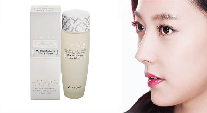 Nước Hoa Hồng Collagen 3W Clinic Clear Softener